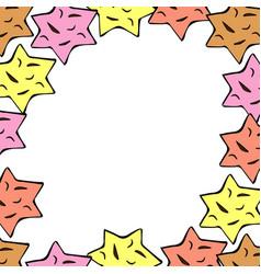 stars frame vector image