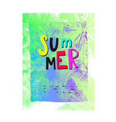 summer shirt print quote lettering vector image