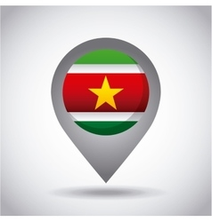 Surinam flag pin vector