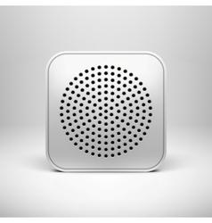 Technology App Icon Blank Template vector