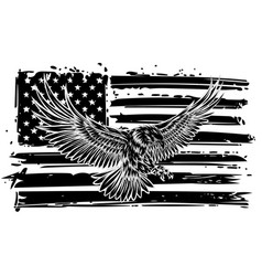 the national symbol usa flag and eagle vector image