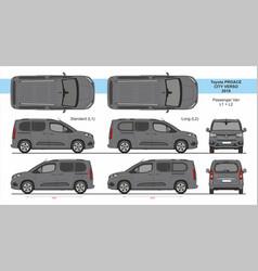 Toyota proace city verso van l1 l2 2018-present vector