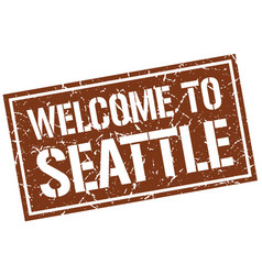 Welcome to seattle stamp vector