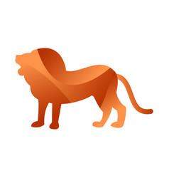 Wild lion animal jungle pet logo silhouette vector
