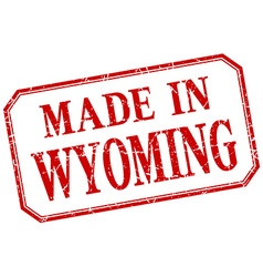 Wyoming - made in red vintage isolated label vector