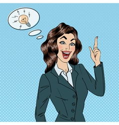 Business Woman Great Idea Woman at Work Success vector image