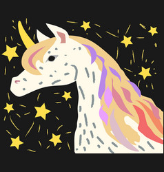 designed for children picture of unicorn with vector image