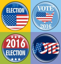 Election 2016 badge set with unites states of amer vector image
