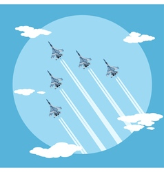 fighter planes vector image vector image
