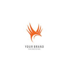 fly bird abstract logo vector image