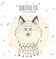 Fox cute vector image