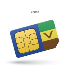 Venda mobile phone sim card with flag vector image vector image