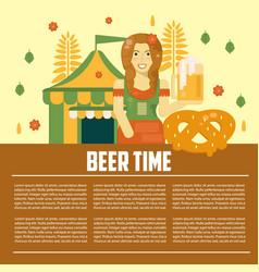 beer letterhead template vector image