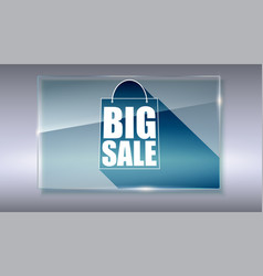 Big sale text banner on gray backdrop ready to vector