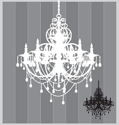 chandelier vector image