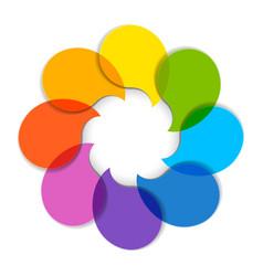 Circle diagram vector image vector image