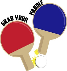 Grab Your Paddle vector image vector image