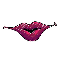 smile lips gesture vector image vector image
