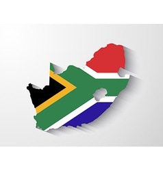 South Africa map with shadow effect presentation vector image