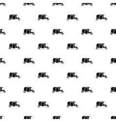 Tuk tuk taxi pattern simple style vector image vector image