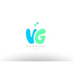 aaaaa alphabet letter blue green logo icon design vector image vector image