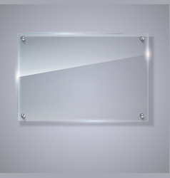 blank transparent glass plate vector image vector image