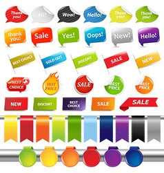 Set Of Colorful Sale Stickers And Labels vector image