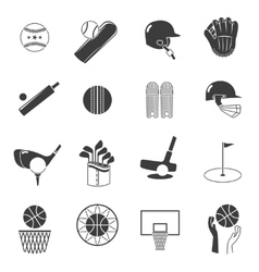 Sport Icons Black Set vector image vector image