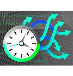 Time 2 vector image vector image
