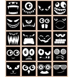 Avatars Black vector image vector image