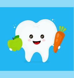 cute smiling happy healthy tooth vector image