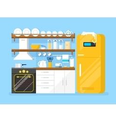 Kitchen flat style vector image