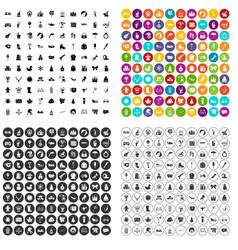 100 children icons set variant vector