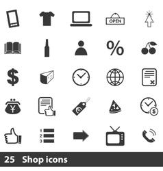 25 shopping icons set vector