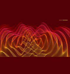 3d wavy background with ripple effect with vector