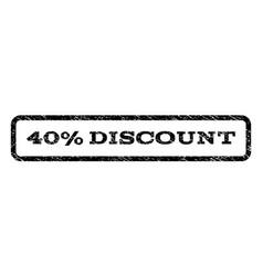 40 percent discount watermark stamp vector image