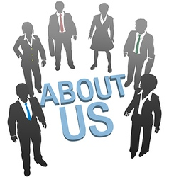 About Us company website people icon vector image