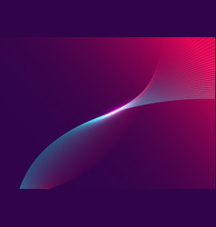 abstract blue curved line with light on purple vector image