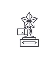 achievement award line icon concept achievement vector image