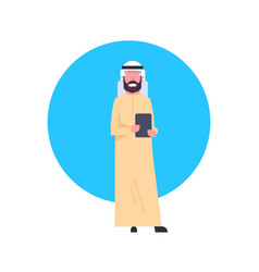 Arabic business man icon wearing traditional vector
