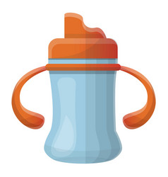 baby sippy cup icon cartoon style vector image