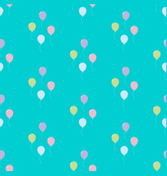 balloon seamless pattern vector image