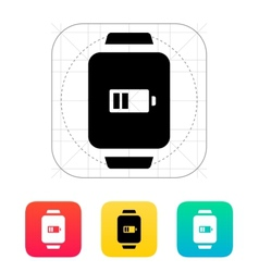 Battery charge in smart watch icon vector