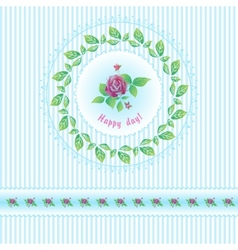 Beautiful roses post card for holiday vector image