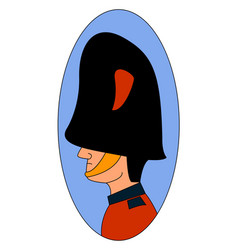 british guard on white background vector image