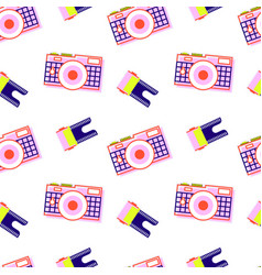 camera pattern film vector image