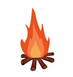 Campfire isolated vector