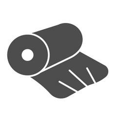 Cellophane solid icon cellophane tape roll vector