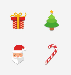 christmas bright icons collection vector image