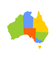 Colorful blank map of australia vector